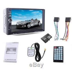 Universal Black 12V 7.0HD Car MP5 Player GPS Navigation Bluetooth FM Accessorie