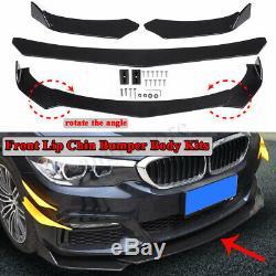 Universal Car Front Bumper Lip Chin Spoiler Splitter Plate Diffuser Body Kit