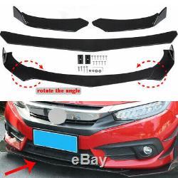 Universal Front Bumper Lip Body Kit Spoiler For BMW Audi Benz Honda Toyota GMC