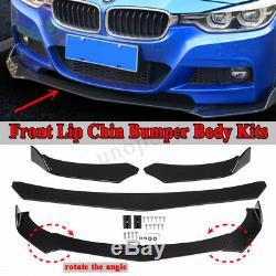 Universal Front Bumper Lip Body Kit Spoiler For Honda Civi BMW Audi Benz Mazda