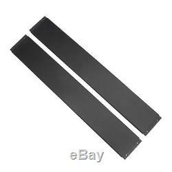 Universal Front Bumper Lip Splitter Spoiler +2m Side Skirt Diffuser Winglet Wing