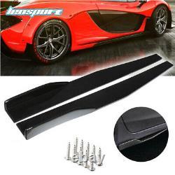 Universal Glossing Black Car Front Bumper Spoiler Body Kit/ Side Skirt /Rear Lip