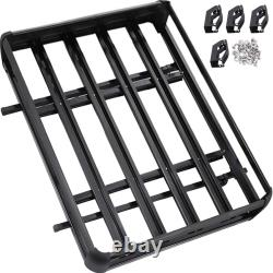 Universal Roof Rack Car Luggage Cross Bar Aluminum with Bars 50 X 38 Basket