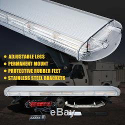 Xprite 47 88 COB LED Rooftop Strobe Light Bar 28 Patterns Emergency Hazard Jeep