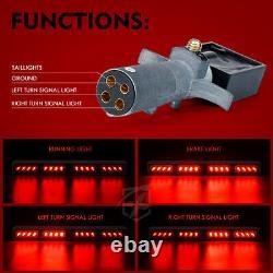 Xprite Red 21.5 Wireless LED Light Bar Traffic Advisor for 12V Tow Truck Pickup